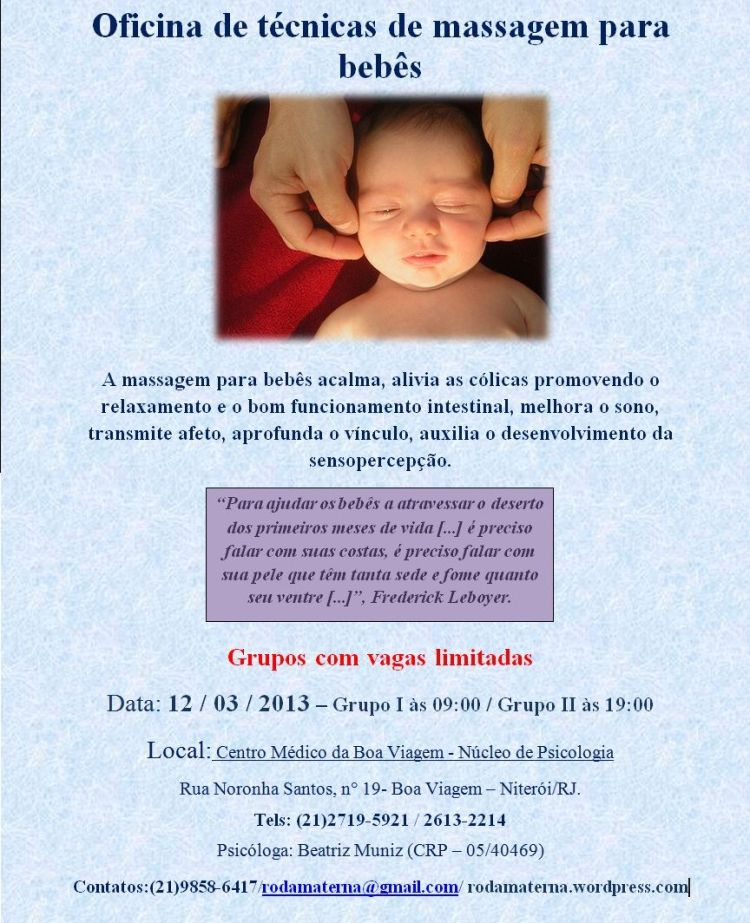 Massagem para bebês